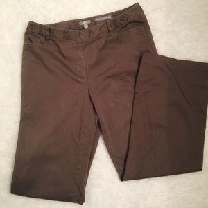 J.Jill Genuine Fit Brown Straight Leg Pants Size 8